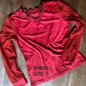 Red Shein shirt